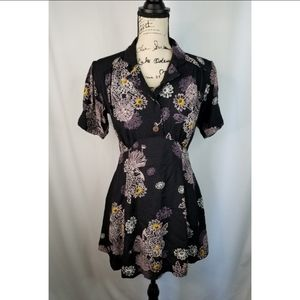Free people blue hawaii floral dress.
